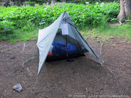 tent camping in Africa