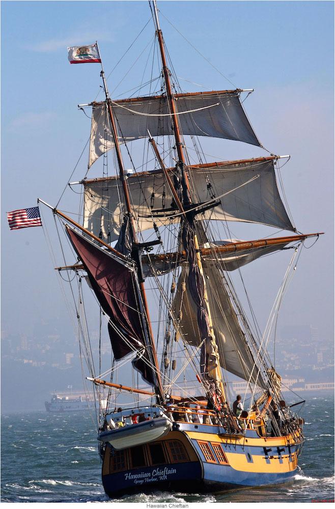 Hawaiian Chieftain's Stern - Lady Washington's Sister Ship