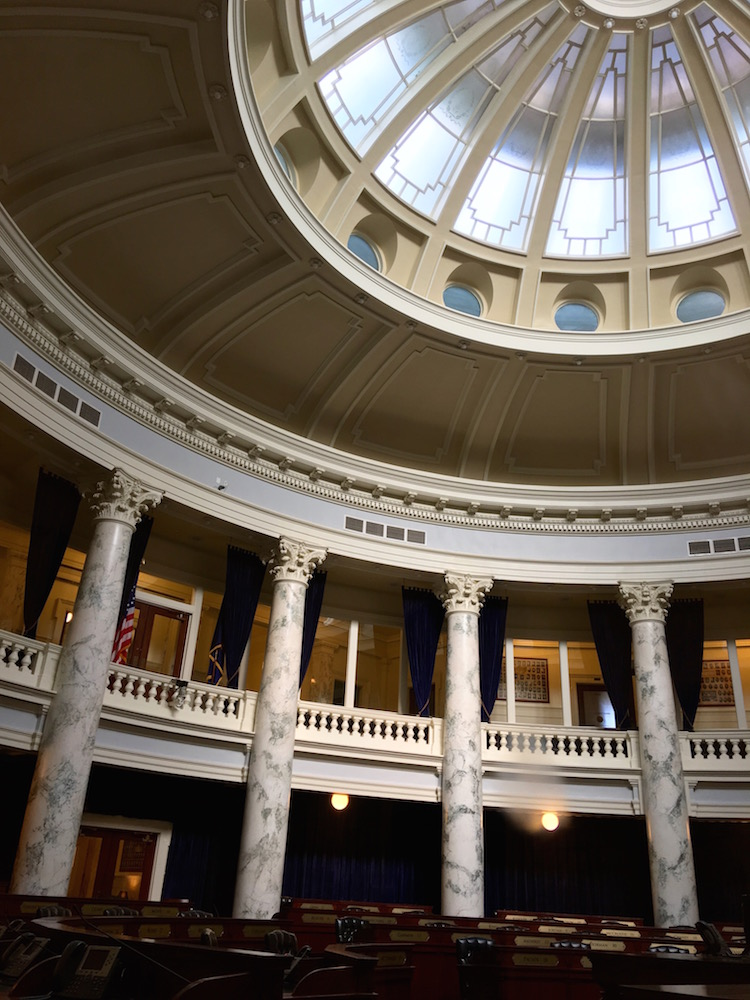 House-Chamber-dome Idaho State Capitol Building