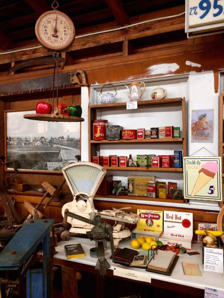 Old store supplies on display in the Cranberry Museum