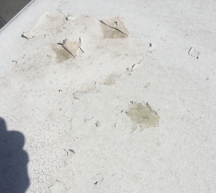 RV roof sealant flaking