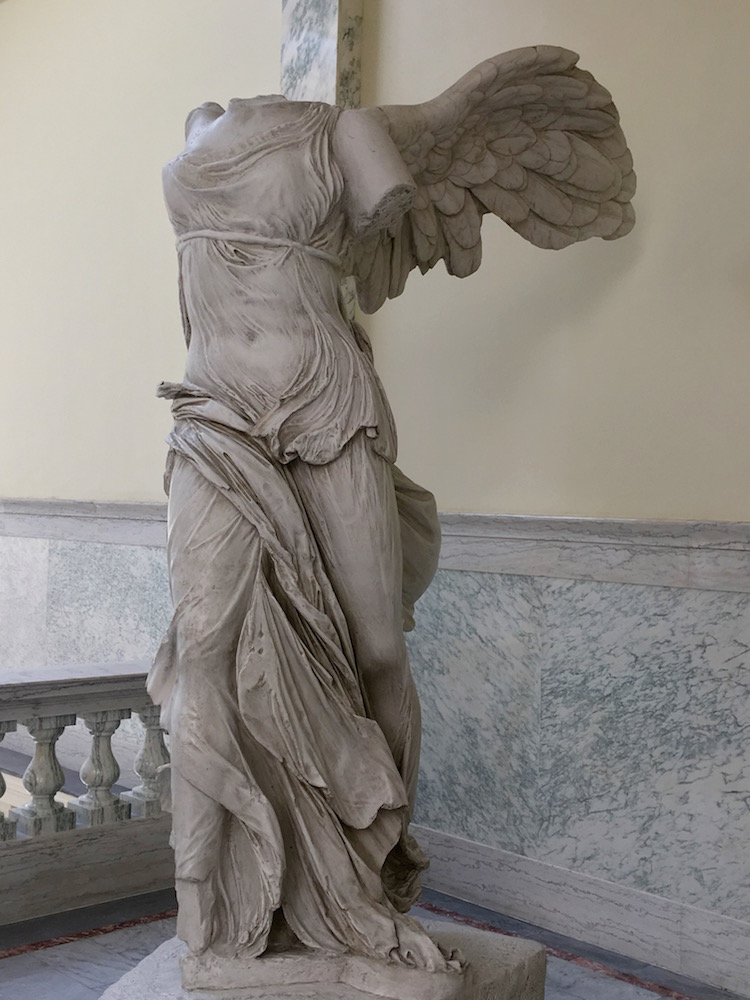 Winged victory sculpture at Idaho State Capitol Building