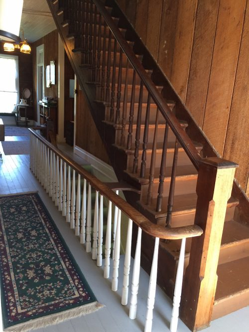 stairway to the third floor of the Haunted Tokeland Hotel