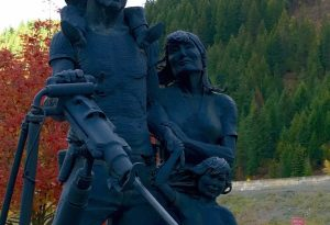 Silver Valley Miner Sculpture - Wallace Idaho