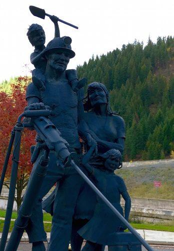 Silver Valley Miner Sculpture - Wallace Idaho