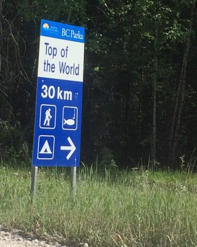 Top of the World Sign