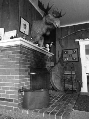 Charley's fireplace - Haunted Tokeland Hotel
